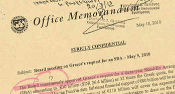 Secret IMF Documents on Greece commented by Eric Toussaint (CADTM)