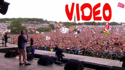 Jeremy Corbyn's historic speech at Glastonbury festival