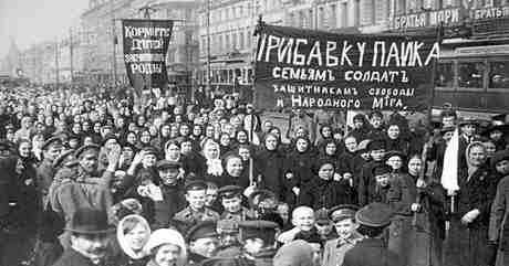 February 23, 1917 : Womens protest in Petrograd